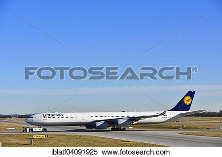 Stock Image of Lufthansa Airbus A340.