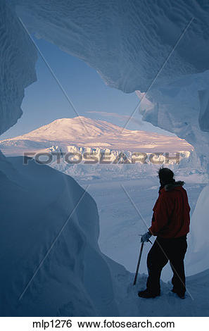 Stock Images of Ice cave below Mount Erebus (12,444 ft / 3,794 m.