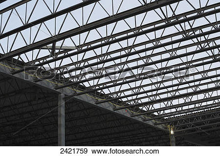 Stock Photograph of New commercial warehouse building being.