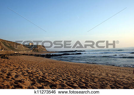 Stock Images of Detail of the portuguese Ericeira beach k11273546.