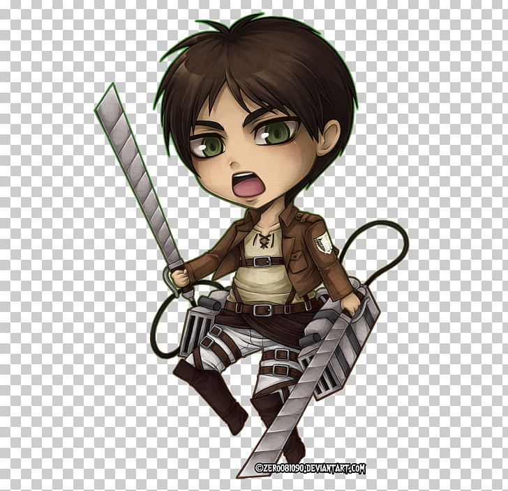 Eren Yeager Mikasa Ackerman Attack On Titan Chibi Drawing.