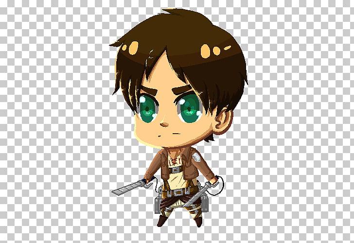 Fan art Character, Eren Jaeger PNG clipart.