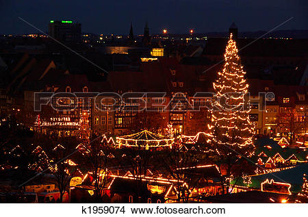 Stock Photo of Erfurt christmas market 19 k1959074.