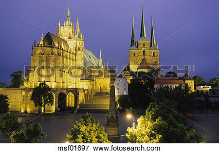 Picture of Dome of Erfurt, Thuringia, Germany msf01697.