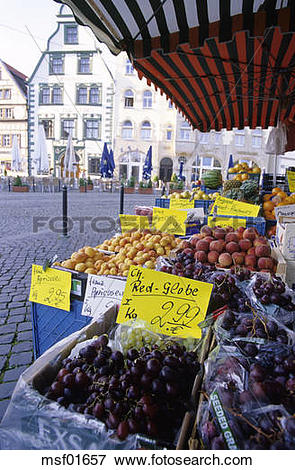 Picture of Erfurt, market at Domplatz, Thuringia, Germany msf01657.