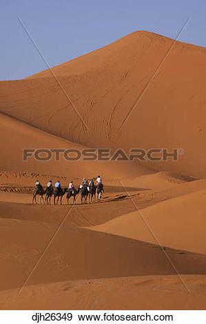 Stock Photograph of Africa, North Africa, Morocco, Sahara Desert.