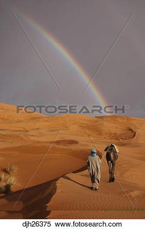 Stock Image of Africa, North Africa, Morocco, Sahara Desert.