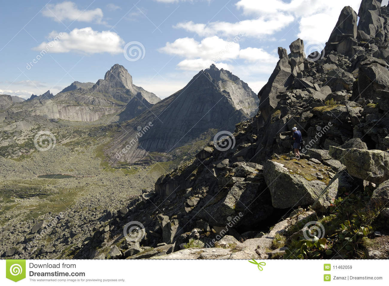 Ergaki National Park Mountains Royalty Free Stock Images.