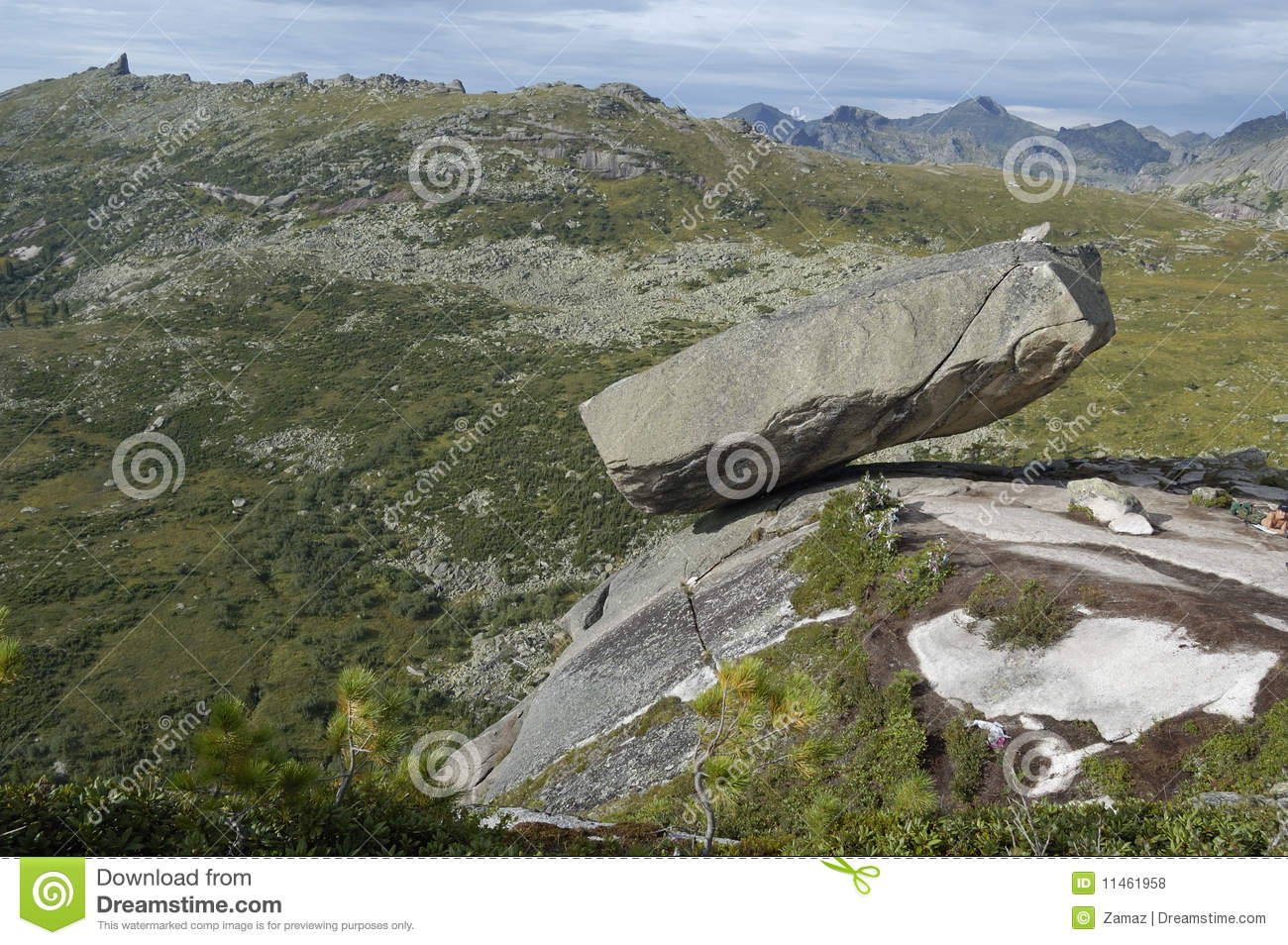 Ergaki National Park Mountains. Sleeping Sayan Royalty Free Stock.