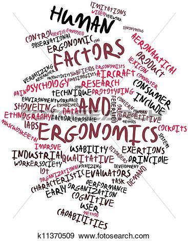 Stock Illustration of Human factors and ergonomics k11370509.