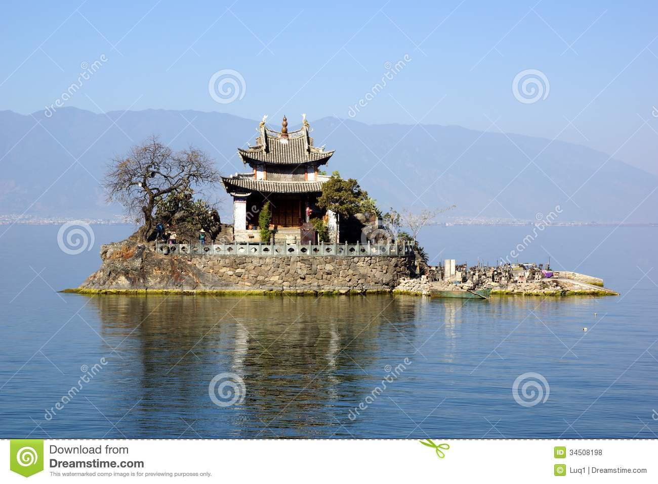 Erhai Lake, Dali, Yunnan Province, China Royalty Free Stock Photos.