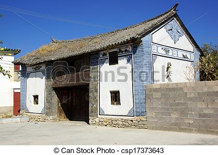 Stock Photo of Rural scenery around Erhai lake and Dali, Yunnan.