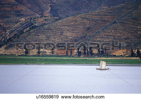 Stock Photograph of Fishing junk on Erhai Lake in Dali u16559819.