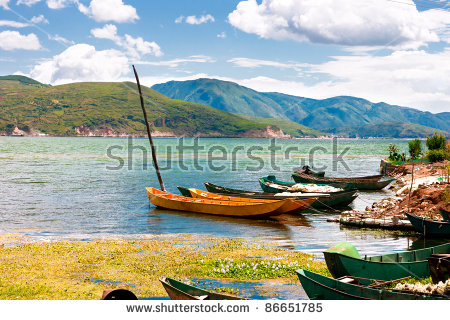 Erhai Lake. Taken In The Dali Yunnan China Stock Photo 86651785.