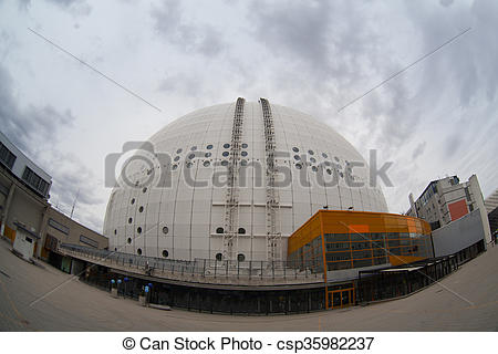 Stock Photos of Architectural detail of the Ericsson Globe, the.
