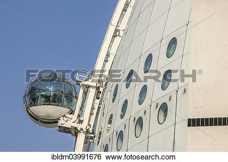 "Stock Images of ""Sky View cabin on the dome of the event arena."