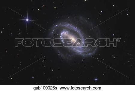 Stock Images of NGC 1300 is a barred spiral galaxy in the.