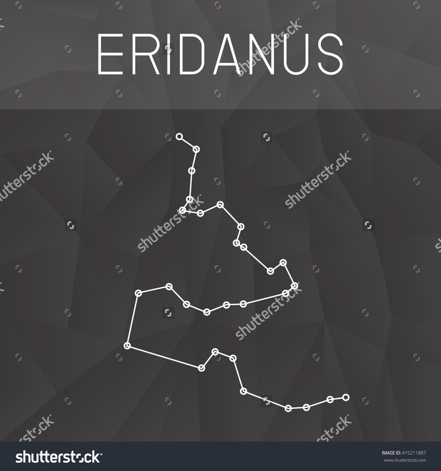 Eridanus Constellation Stock Vector 415211887.