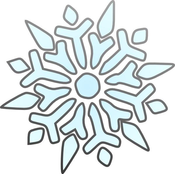 Erik Single Snowflake clip art Free vector in Open office drawing.