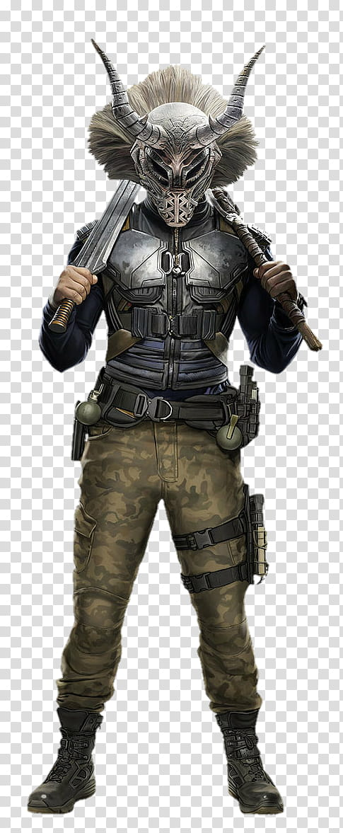 Black Panther Eric Killmonger transparent background PNG.