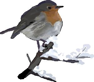 European Robin Erithacus Rubecula Clip Art Download.