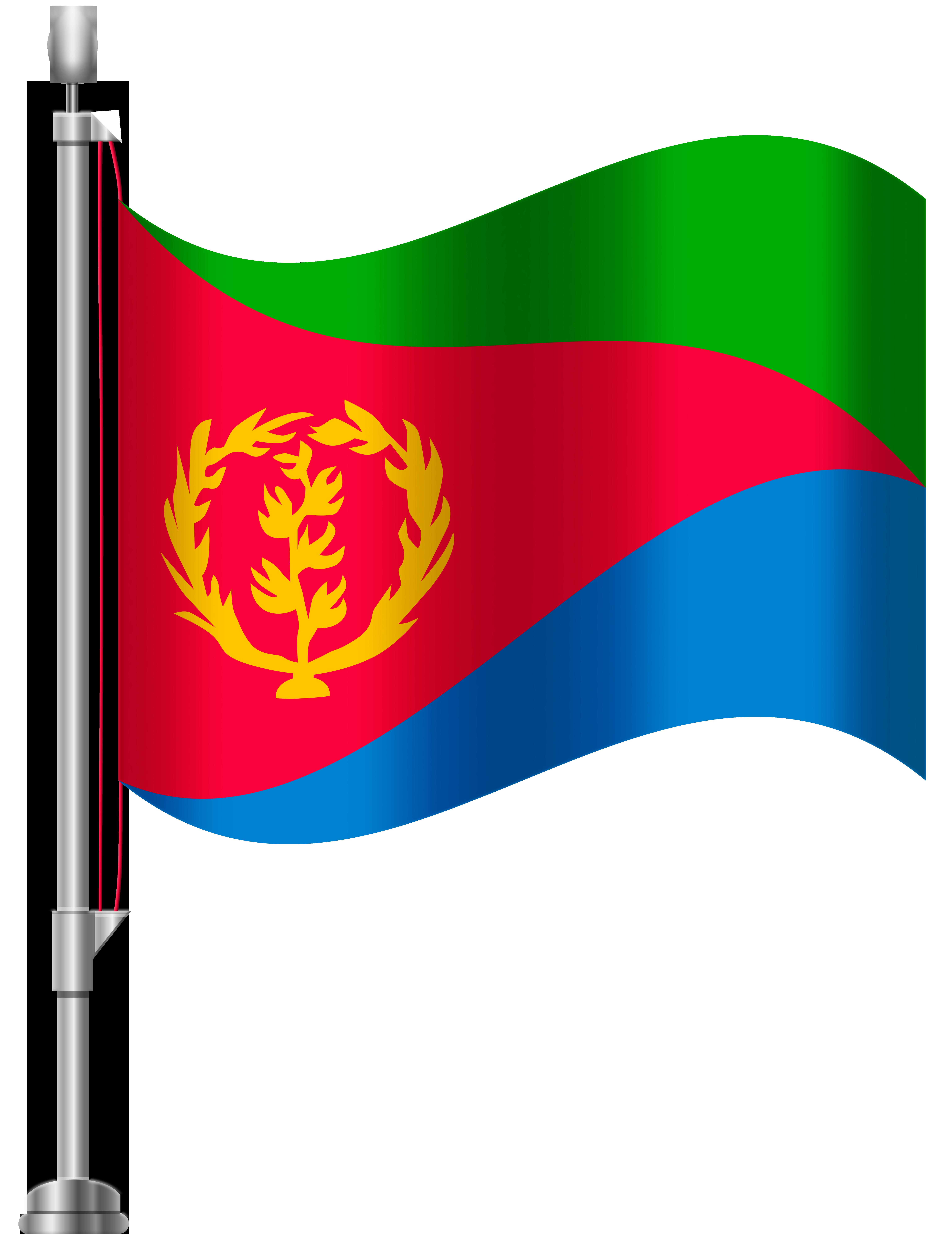 Eritrea Flag PNG Clip Art.