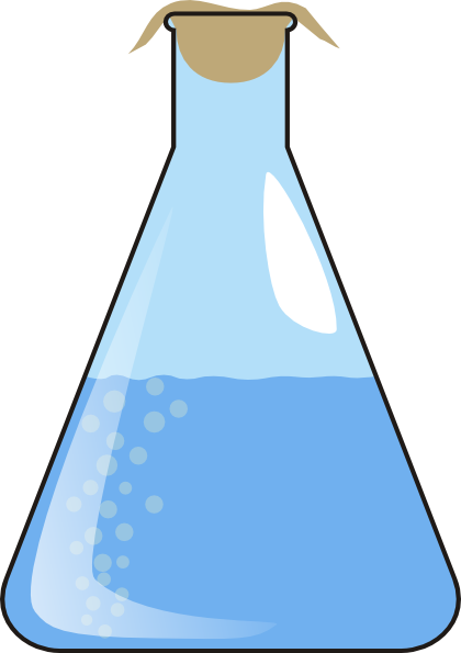 Erlenmeyer Full Of Liquid With Bubbles Clip Art at Clker.com.