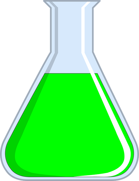 Free vector graphic: Erlenmeyer Flask, Green, Chemistry.