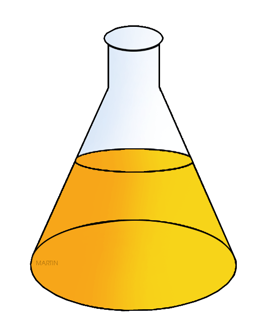 Free Chemistry Clip Art by Phillip Martin, Erlenmeyer Flask.