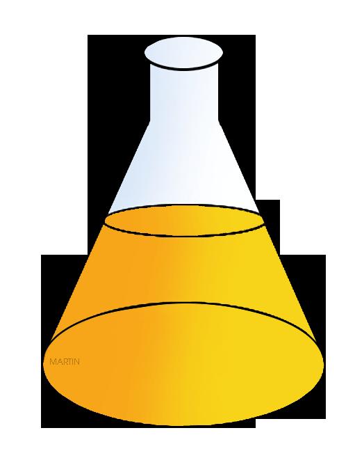Free Chemistry Clip Art by Phillip Martin, Erlenmeyer Flask.