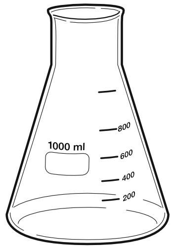 Erlenmeyer flask 1000 ml.