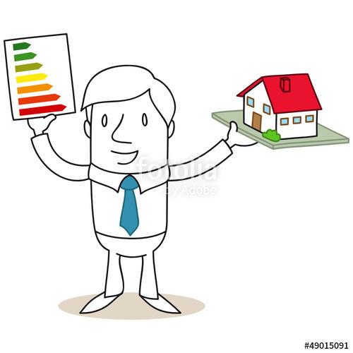 """Geschäftsmann, Energieeffizienzklassen, Energiebedarf"""" Stockfotos."""