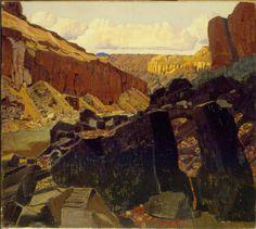 Ernest Blumenschein, Sandia Mountains.