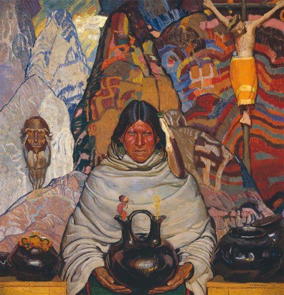 Superstition, by Ernest Blumenschein, 1921. No shallow Western.