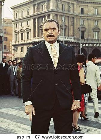 Picture of 1960S Portrait Actor Ernest Borgnine On Set In Europe.