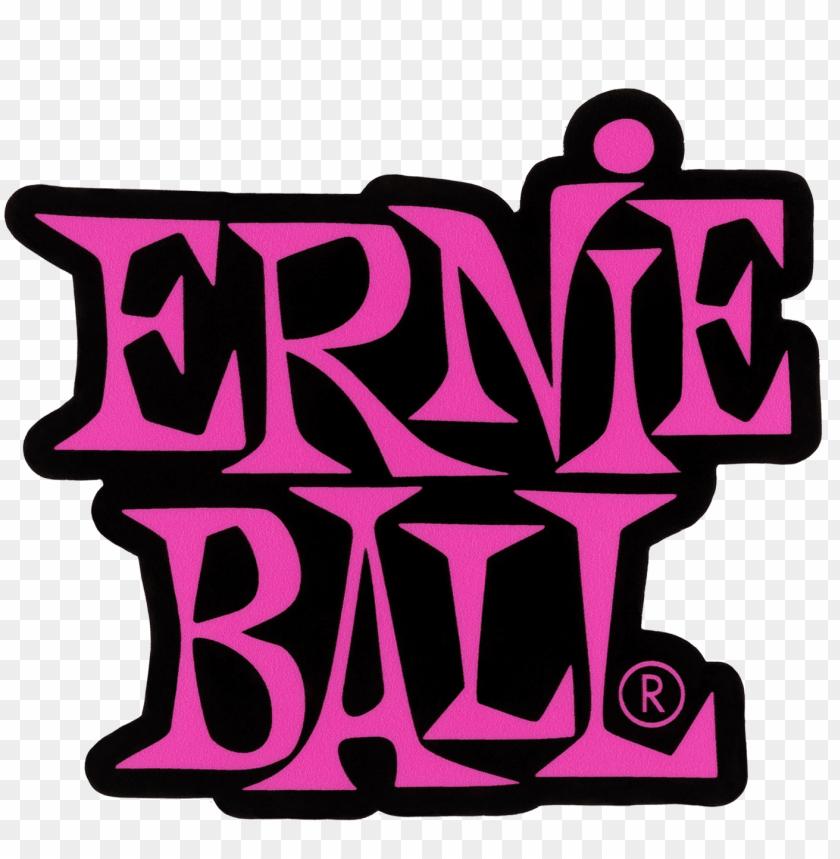 stacked pink ernie ball logo sticker.