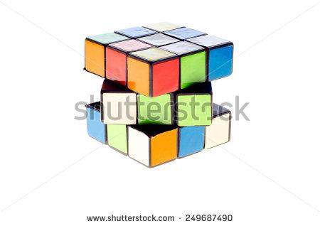 3d Cube Colored Icon Geometric Symbol Stock Vector 223086502.