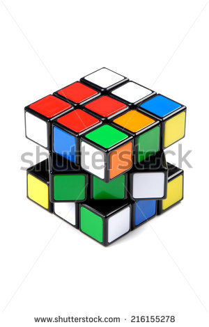 Vector Cube Made Mondrian Painting Stock Vector 58066603.
