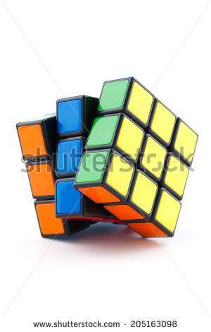 Cube Puzzle Stock Photos, Royalty.