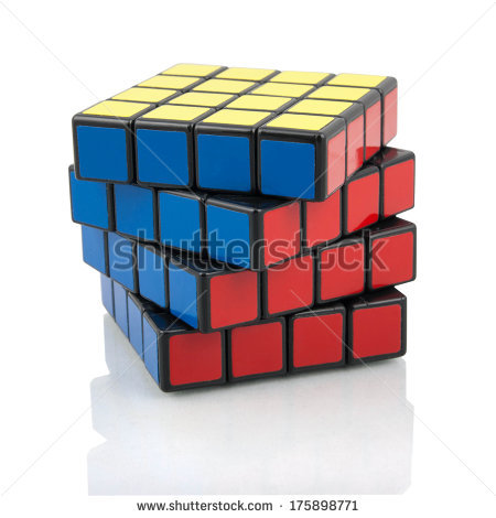 Cube From Puzzles Stock Photos, Royalty.