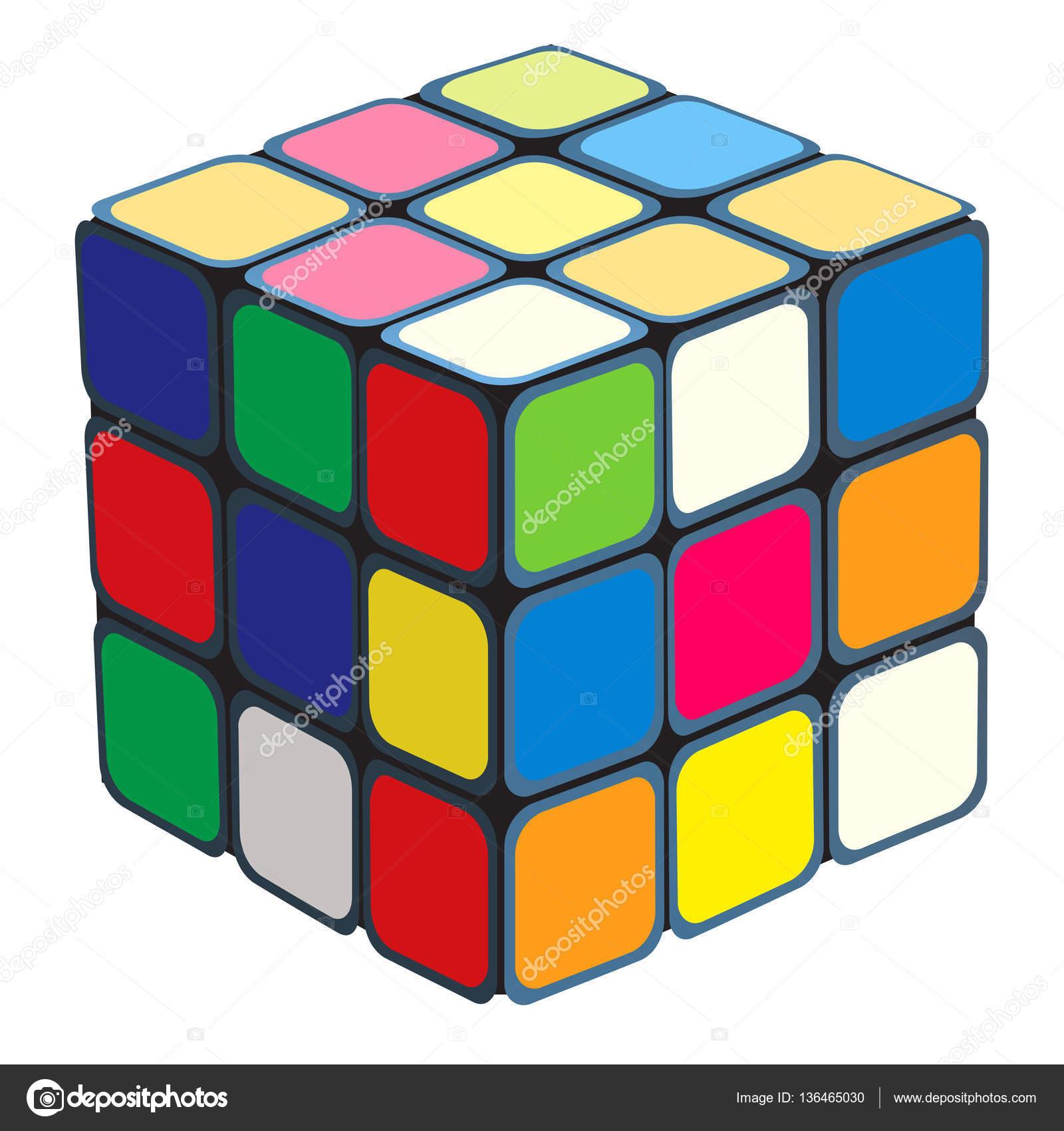 Rubik's Cube — Stock Vector © kharlamova_lv #136465030.