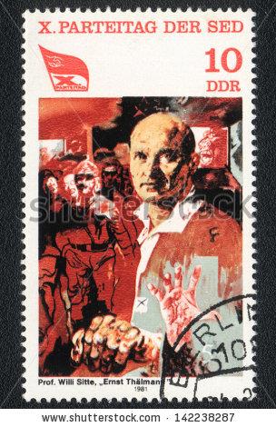 Ernst Thalmann Lizenzfreie Bilder und Vektorgrafiken kaufen.
