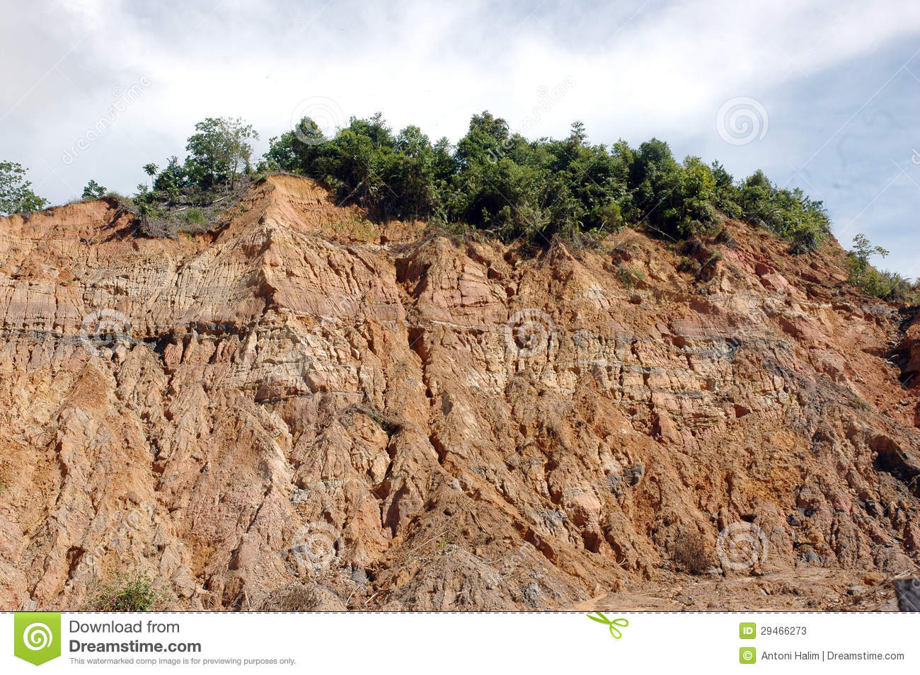 Eroded Mountain Stock Photos.