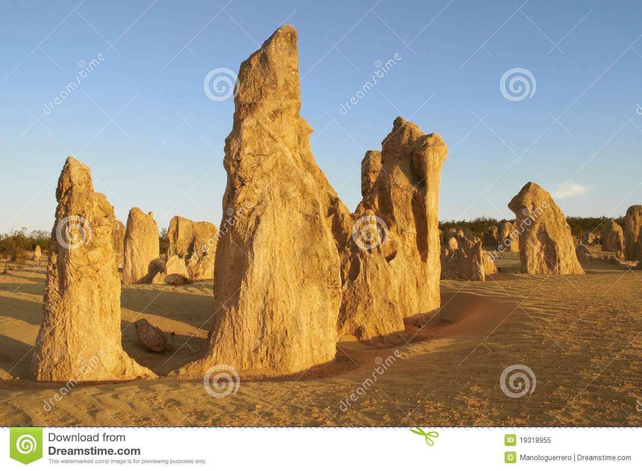 Pinnacle Desert, Nambung NP, Western Australia Royalty Free Stock.