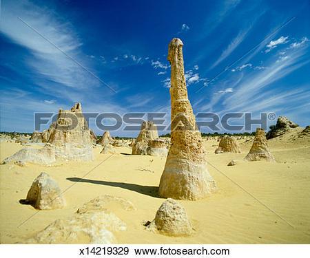 Stock Photograph of Australia, Western Australia, The Pinnacles.