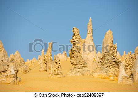 Stock Photographs of Pinnacles National Park Western Australia.