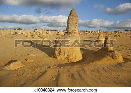Stock Photo of Nambung Pinnacles Western Australia k10048324.