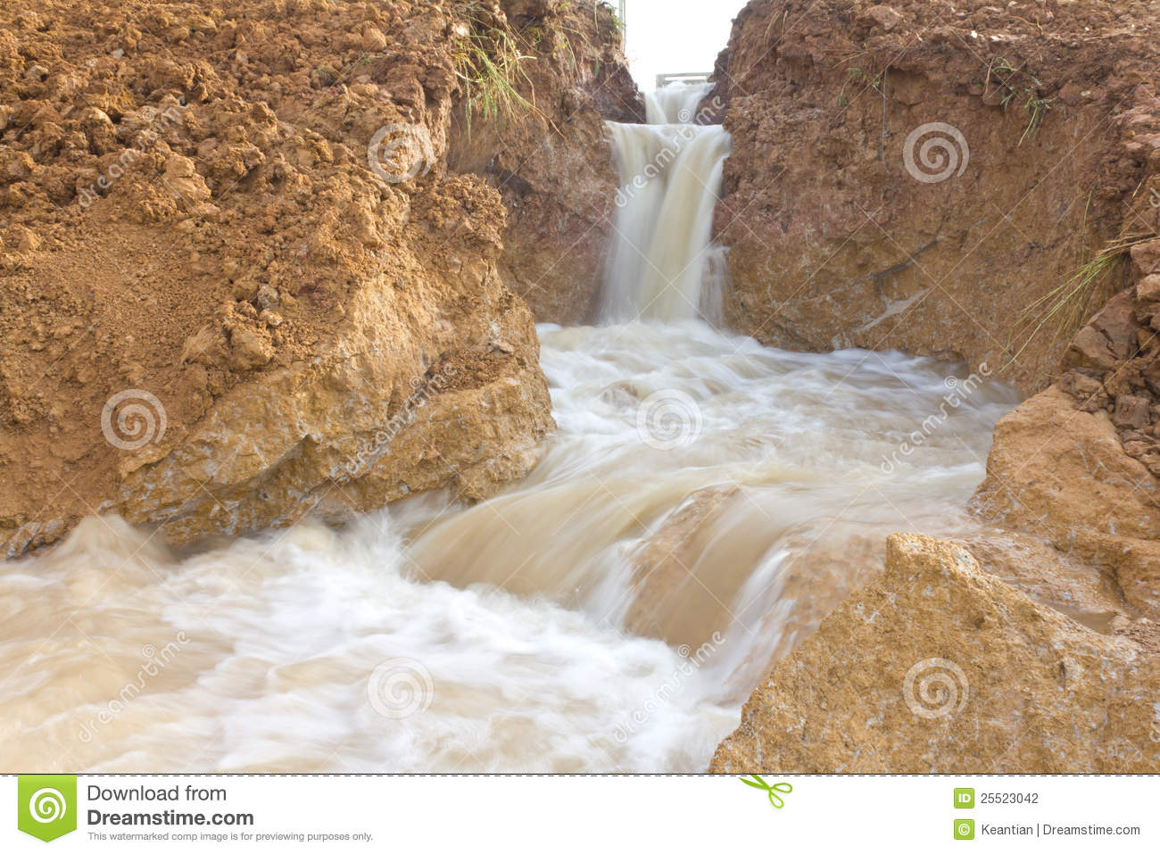 Soil Erosion Field Stock Image.