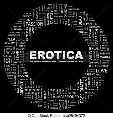 Vectors Illustration of EROTICA. Word cloud concept illustration.