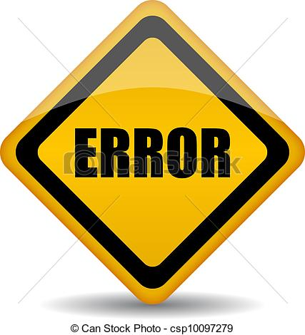 Vectors Illustration of Vector error sign on white background.